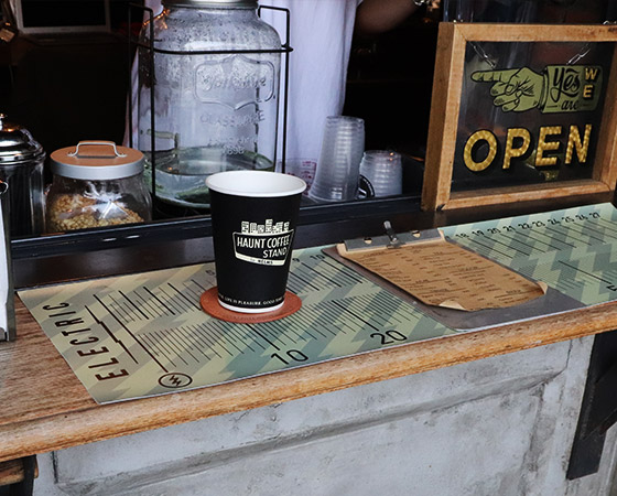 【HAUNT COFFEE STAND by HELMS × Heritage Leather Co.】#LEATHER COASTER NATURAL