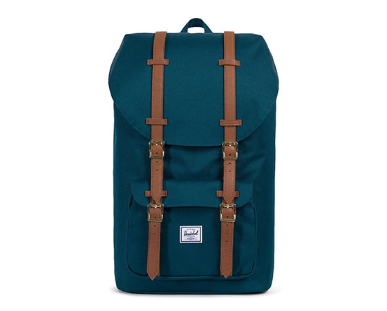 LITTLE AMERICA Deep Teal/Tan Synthetic Leather