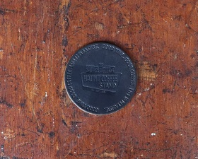 【HAUNT COFFEE STAND by HELMS × Heritage Leather Co.】#LEATHER COASTER BLACK